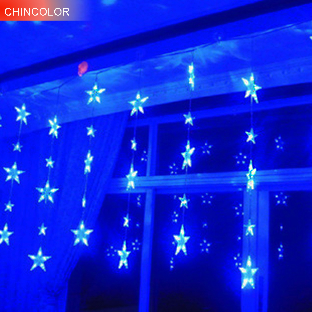 138LEDS Holiday lights Curtain ice bars Led Light string Multicolor EU Plug Xmas Garland christmas fairy Weeding decoration DA