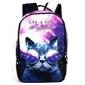 3D Cat Animal Print School backpack For Men Designer Teenagers book lbag Unisex For Boys/Girls 2017 Women Cute Dog Backbpack bag