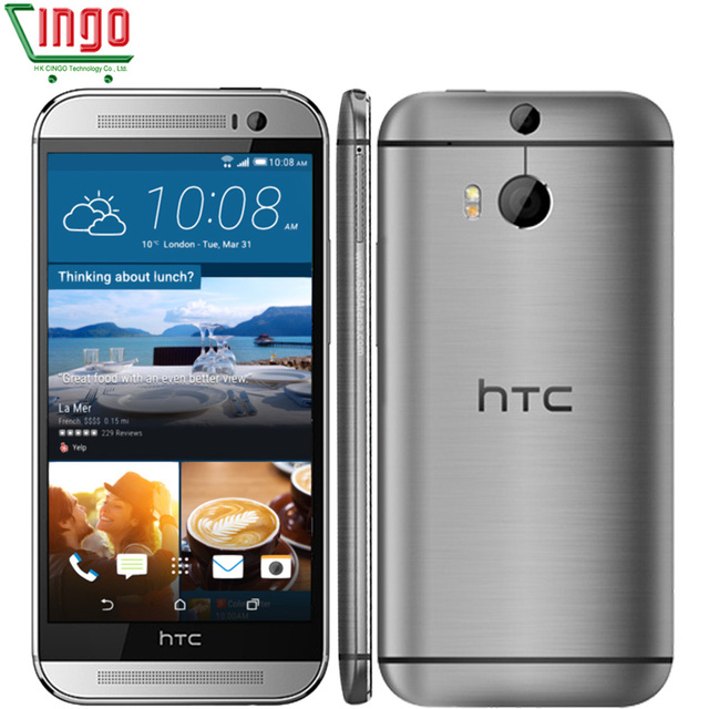 Открыл HTC Один M8 2 ГБ Оперативная память 16 ГБ/32 ГБ Встроенная память quad-core 3 камеры 5.0 дюймов 5mp WI-FI NFC Восстановленное смартфон