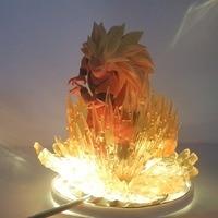 Dragon Ball Lamp Goku Kamehameha DBZ Night Lights Desk Lamp Dragon Ball Z Goku Super Saiyan 3 Nightlight Lampara