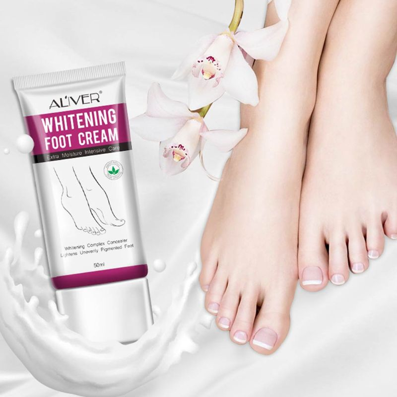 2019 New 50ml Whitening Foot Cream Moisturizing Treatment Hydrating Nourishing Lightens Unevenly Pigmented Feet Care Lotion