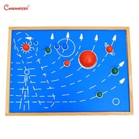 Astral Map With Box Montessori Toys Board Teaching Aids Wooden Kindergarten Games Toys Educational Kids 3 6 Years GE035 3