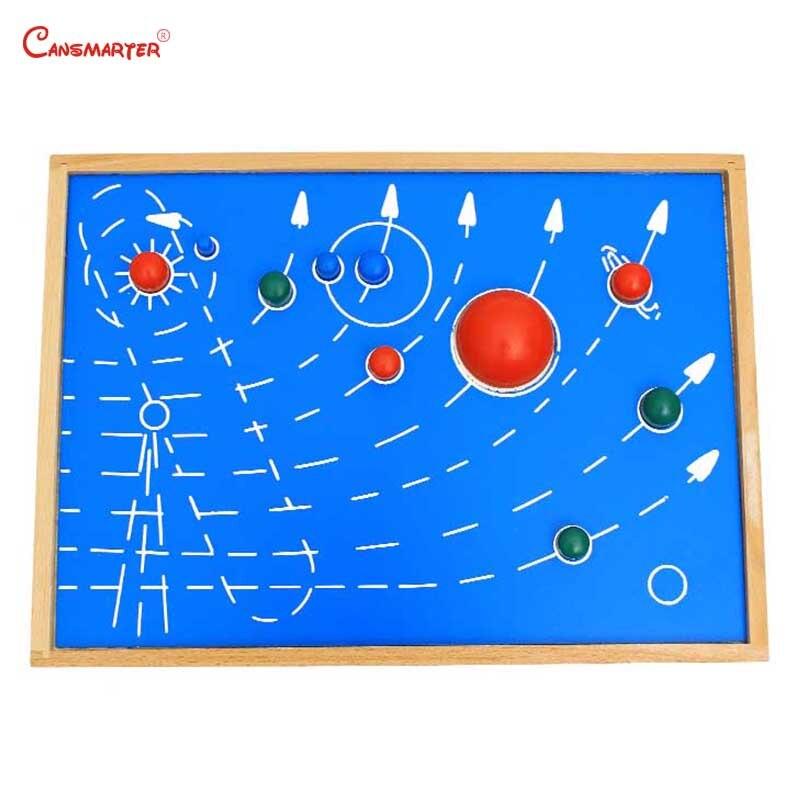 Carte astrale avec boîte Montessori jouets conseil aides pédagogiques en bois maternelle jeux jouets éducatifs enfants 3-6 ans GE035-3