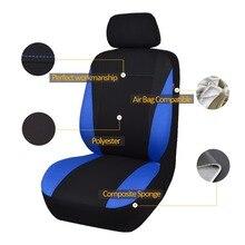 الكلاسيكية العالمي غطاء مقعد السيارة s يناسب معظم SUV غطاء مقعد السيارة تصفيف السيارة 3 اللون غطاء مقعد لبيجو 307 جولف 4