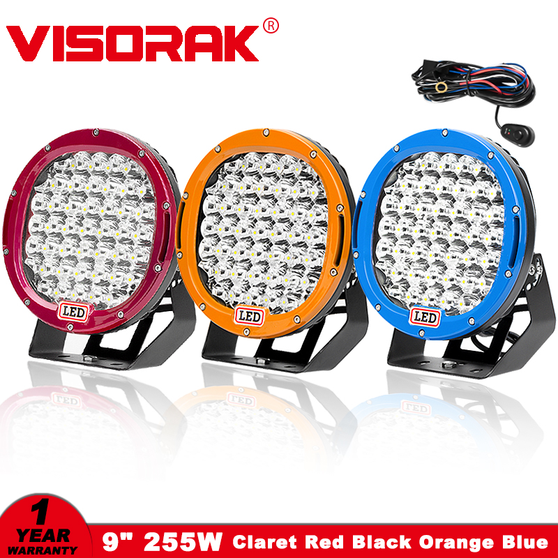 VISORAK 9 225 w LED Light Work Bar 12 v 24 v Spot D'inondation IP68 Offroad LED Bar Pour jeep 4WD 4x4 Camion Remorque SUV ATV Bateau LED Poutres