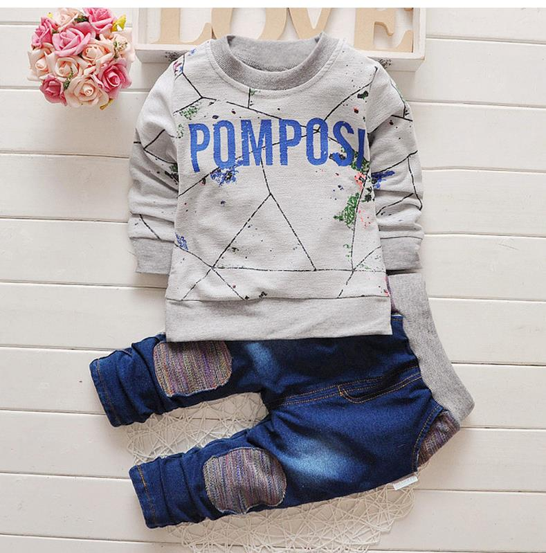 2016 brand new Boys clothing set kids sports suit children tracksuit boys long shirt + pants gogging sweatshirt casual clothes spring children girls clothing set brand cartoon boys sports suit 1 5 years kids tracksuit sweatshirts pants baby boys clothes