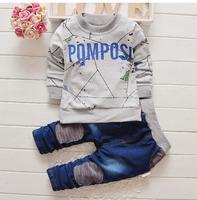 2016 Brand New Boys Clothing Set Kids Sports Suit Children Tracksuit Boys Long Shirt Pants Gogging
