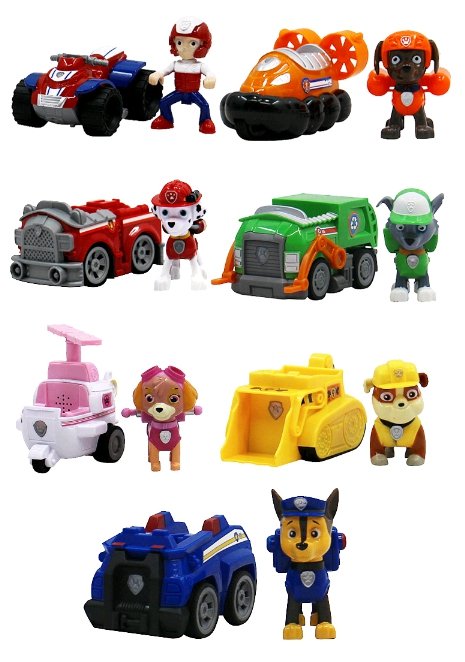 1pcs Action Figures Gift For Dog Canine Anime Doll Car Patrulla Canina Juguetes Pawed Figure Patrolling Puppy Car 8-10cm 12pcs set canine patrol dog toys russian anime doll action figures car patrol puppy toy patrulla canina juguetes gift for child
