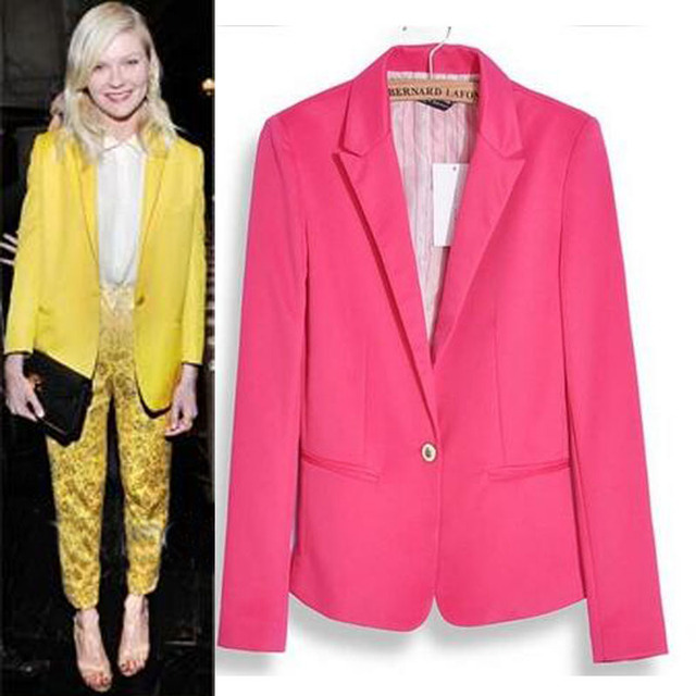 2017 New Fashion Jacket Blazer Women Suit Long Sleeves Coat Lined With Striped Single Button Vogue Blazers Jacket