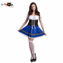 Oktoberfest Dress Sexy Women French Maid Costume Bavarian German Cosplay Fancy Dress Skirt for Ladies Female