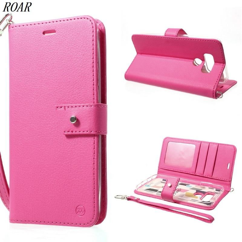 For LG G6 Case Original ROAR <font><b>KOREA</b></font> Daily In Wallet Stand Leather Flip <font><b>Mobile</b></font> <font><b>Phone</b></font> Cover Case For LG G6 5.7 inch