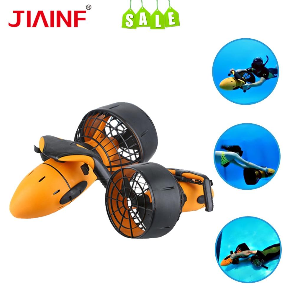 Piscina de agua de mar 300 W Scooter subacuático hélice de agua de doble velocidad equipo de buceo submarino scooter de mar