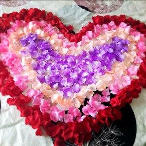 16 Color 1000 Pcs/ Set Artificial Silk Rose Flowers Petals Party Wedding Decoration Festival Decor Flower Petals P15