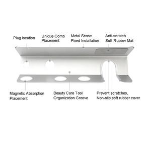 Image 3 - BUBM Dyson Supersonic Haar Trockner Wand Halterung, Aluminium Legierung Aufhänger Halterung für Dyson Haar Trockner, diffusor und Zwei Düsen