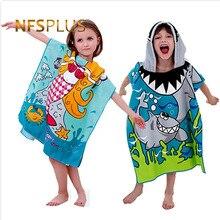С капюшоном банное полотенце-пончо Для детей Халат полотенца Банные халат быстросохнущая Впитывающее микроволокно путешествия Спорт Пляж Полотенца