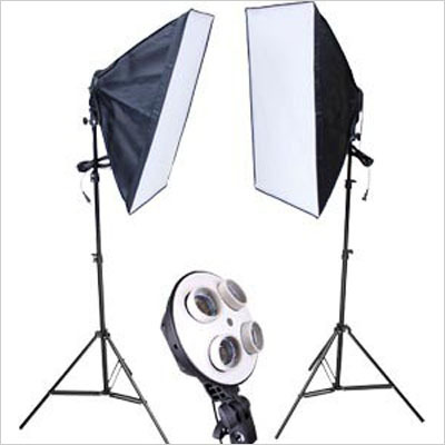 Photo Studio Video Lighting Kit Photography two 200cm Light Stand+two 50x70cm Softbox studio continuous lignting kits 4in1 CD50 professional godox ql1000 1000w photo photography studio video continuous light lighting