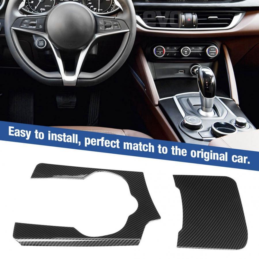 ABS Carbon Fiber Control Panel Trim Cover Fit for Alfa Romeo stelvio 2017-2019 car accessories