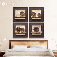 Modern Tree Landscape Artwork Wall Pictures Unframed Paintings for Living Room