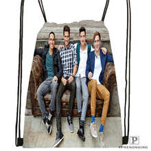 Custom Big-Time-Rush-in-Cologne- Drawstring Backpack Bag Cute Daypack Kids Satchel (Black Back) 31x40cm#180611-01-06
