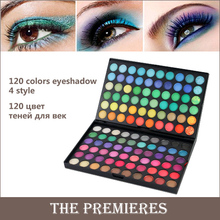 120 Color Fashion Eye Shadow Palette Cosmetics Mineral Make Up Makeup Eye Shadow Palette Eyeshadow Set For Women 4 Style Colors
