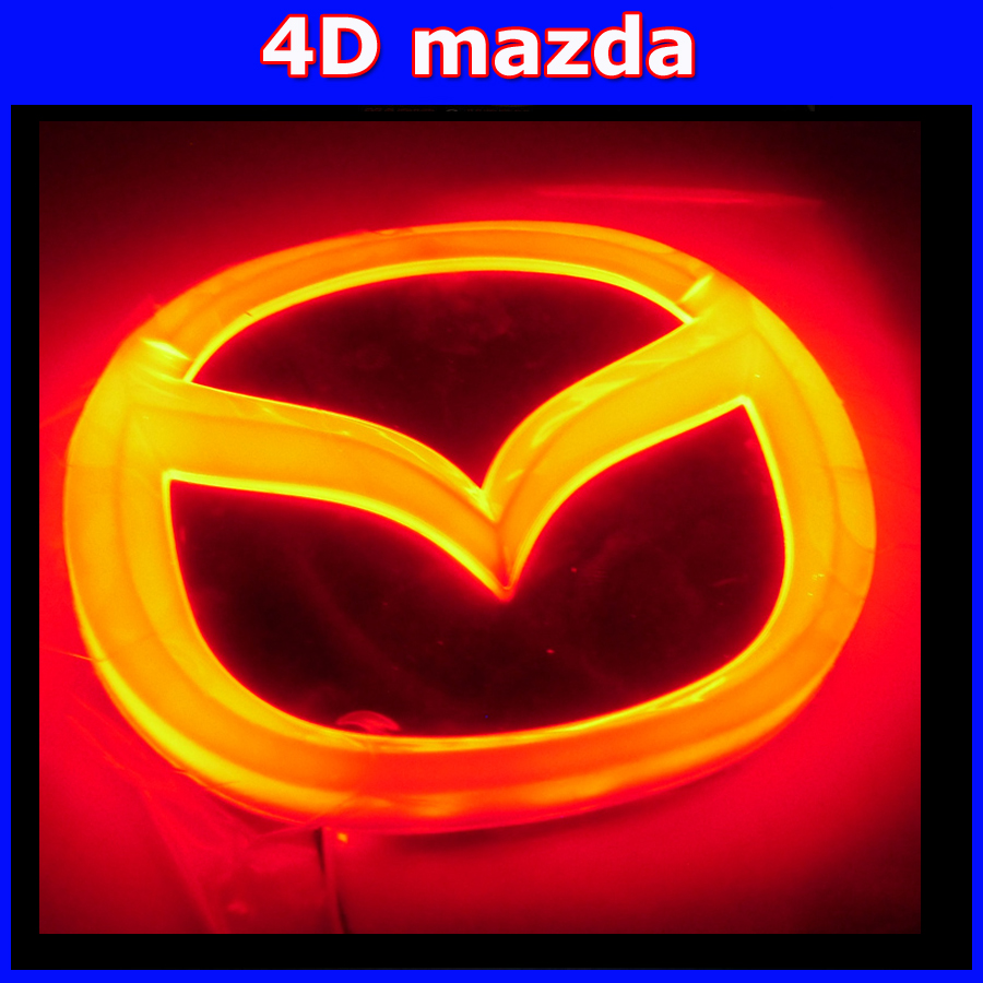 car led emblem lamp 4D logo light Cold light decoration badge sticker bulb for mazda 6 2 3 cx-7 mazda8 4d logo lamp 1pcs 4d led rear emblem car logo light for ford focus mondeo car led badge bulb car styling