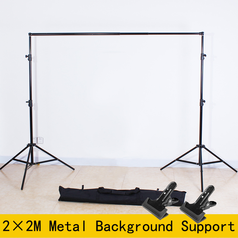 Yuguang Photography 2*2M Aluminum Background Photo Backdrop Support System Stands with carry bag Clamps ashanks pro photography studio photo backdrops frame background support system 2m x 2 4m stands for photo shoot carry bag