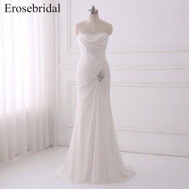 029223f52 Elegant Bohemian Mermaid Wedding Dress 2018 Erosebridal Beading Wedding  Dresses Fancy Pleat Bodice Bridal Gowns Vestido De Noiva