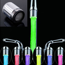 Распыления водопроводный нажмите красочный глава rgb душ кран комната ванная светодиодные