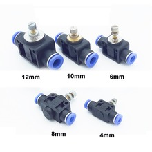 купить Throttle Valve SA 4-12mm Air Flow Speed Control Valve Tube Water Hose Pneumatic Push In Fittings Pneumatic Fittings Connectors дешево