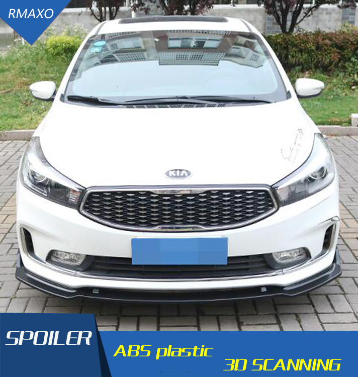 For Forte K3 Rear spoiler ABS Rear front Bumper Diffuser Bumpers Protector For KIA K3 2016