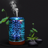 3D LED Night Light Colorful Fireworks LED Mist Ultrasonic Sprayer Aromatherapy Lamp Air Humidifier Aroma Oil Diffuser for home
