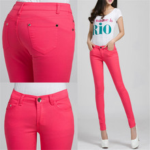 Candy Colour Pencil Trousers