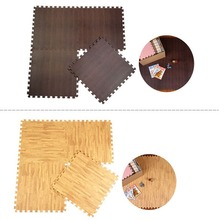9 unids 30×30 cm cojín de espuma eva alfombra del piso tipo madera reconstruido carpet faux grano de madera suelo cocina estera
