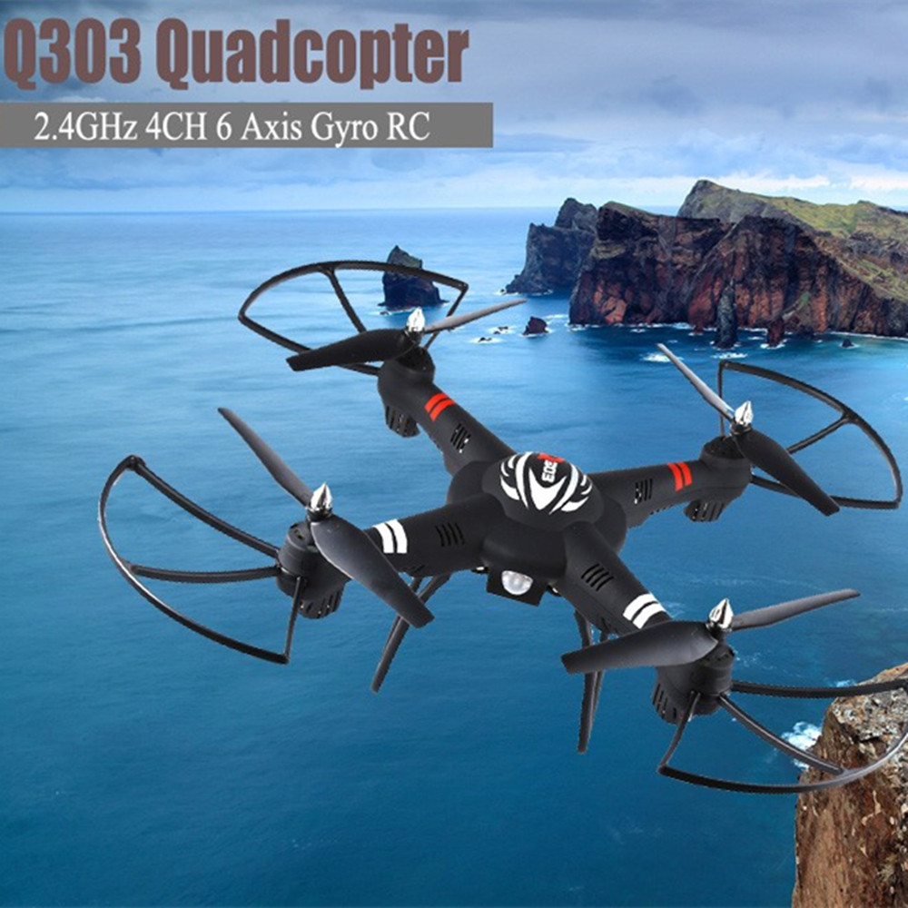 Original WLtoys Q303 RC Drone 2.4GHz 4CH 6 Axis Gyro RC Quadcopter RTF Aircraft RC Helicopter Toy VS Hubsan H501S Cheerson CX-20 10pcs lot cx 10 3 7v 100mah battery for cheerson cx 10a fq777 124 wltoys v272 v282 v292 hubsan q4 h111 mini rc quadcopter parts