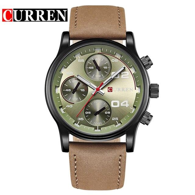 Curren Fashion Fake Blue Watch Top Fashion Leather Men Luxury Brand Watches Rock Man Sports Watches Male Quartz Watch 8207 3