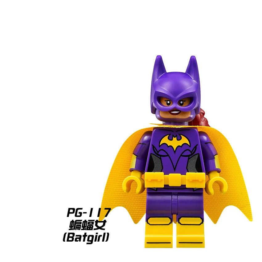 Untuk Film Batman Beku Poison Ivy Harley Quinn Joker Kalender Pria Joker Barbara Gordon Angka Blok Bangunan Mainan