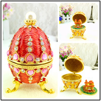 European painting crafts, metal crafts Pearl Egg Castle,desktop Decoration home ornaments gift(A435)