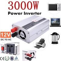 Vehemo Free Shipping Inverter 12v 220v 3000W Car Inverter 12 V To 220 V Power Supply