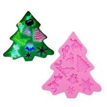 Гаджеты формы для помадки снеговик Рождественская елка снежинка