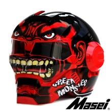 18 Colors Masei 610 Ironman Motorcycle Helmet Skull Casque Motorbike Capacete Casco1
