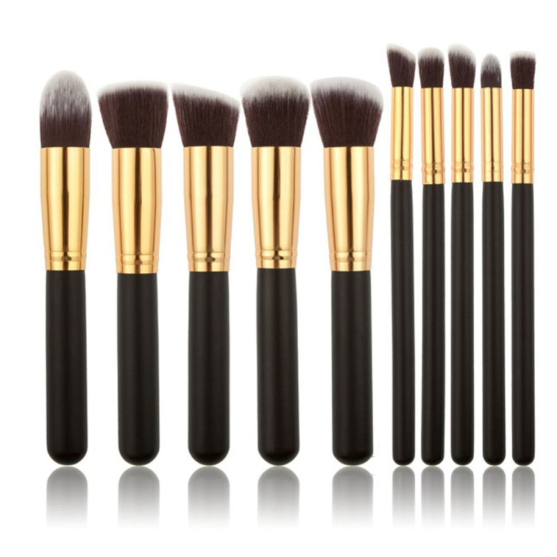 Brochas conjuntos cosméticos 10 piezas sintético