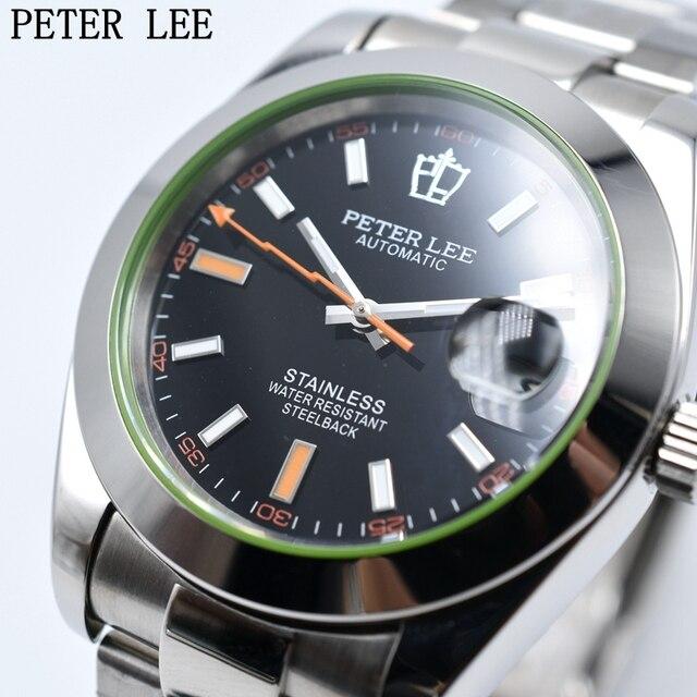 Relojes mecánicos automáticos para hombre PETER LEE relojes de lujo de  marca superior reloj de acero e51fa8e909b7