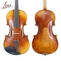 Master Handcraft Customized Antiqued Violin 4/4 Natural Flamed Maple Professional Violins Violino El violin
