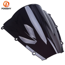 POSSBAY Motorcycle Windscreen Windshield Screen Protector Dirt Bike Motorbike Wind Deflectors for Honda CBR600RR F5 2003 2004