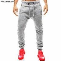 INCERUN Mens Slim Fit Sweatpants Casual Eşofman Altları Erkekler Vücut Geliştirme Fitness Egzersiz Pantolon Joggers Spor Pantolon Izlemek