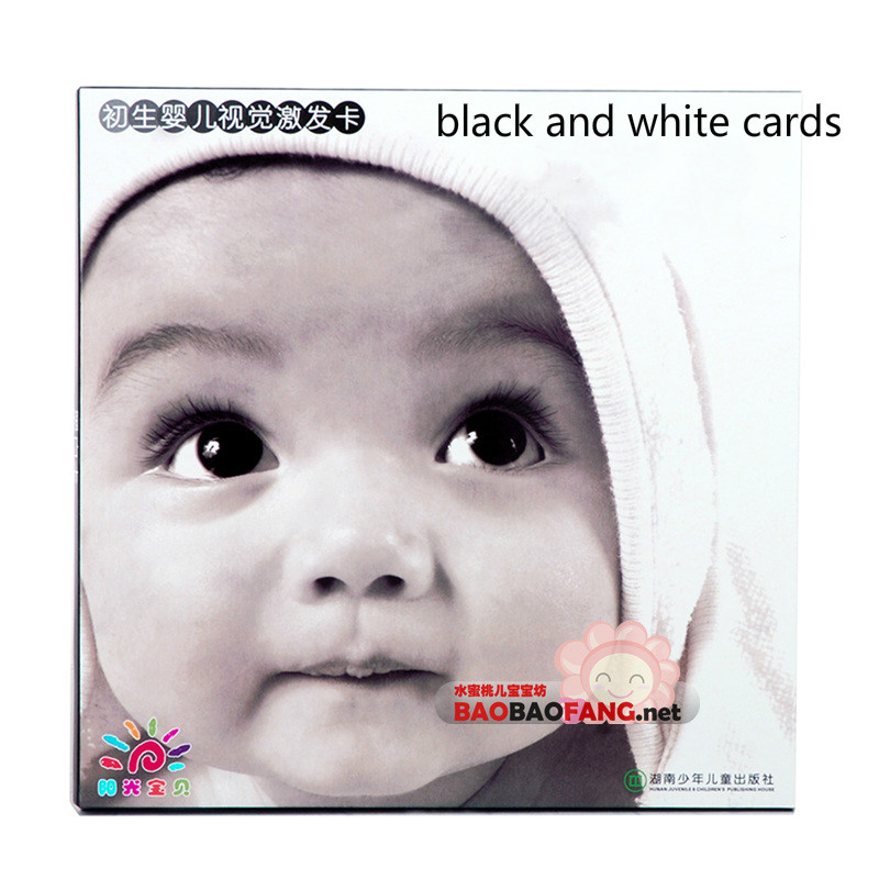 Free shipping Baby black and white card multicolour flash cards 0 - 3 years old baby book baby parenting black and white cards free shipping white black 100
