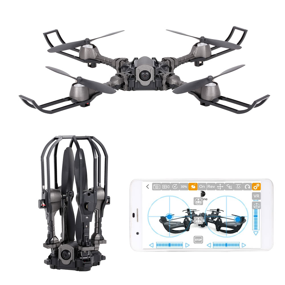 Mini foldable drone RC quadcopter GPS i5hw 2.4G 4CH 0.3MP Camera Drone with camera WiFi FPV Drone Altitude Hold Folding helikopt new plastic gps antenna stand mount folding seat base foldable bracket holder for fpv diy drone qav250 quadcopter multirotor