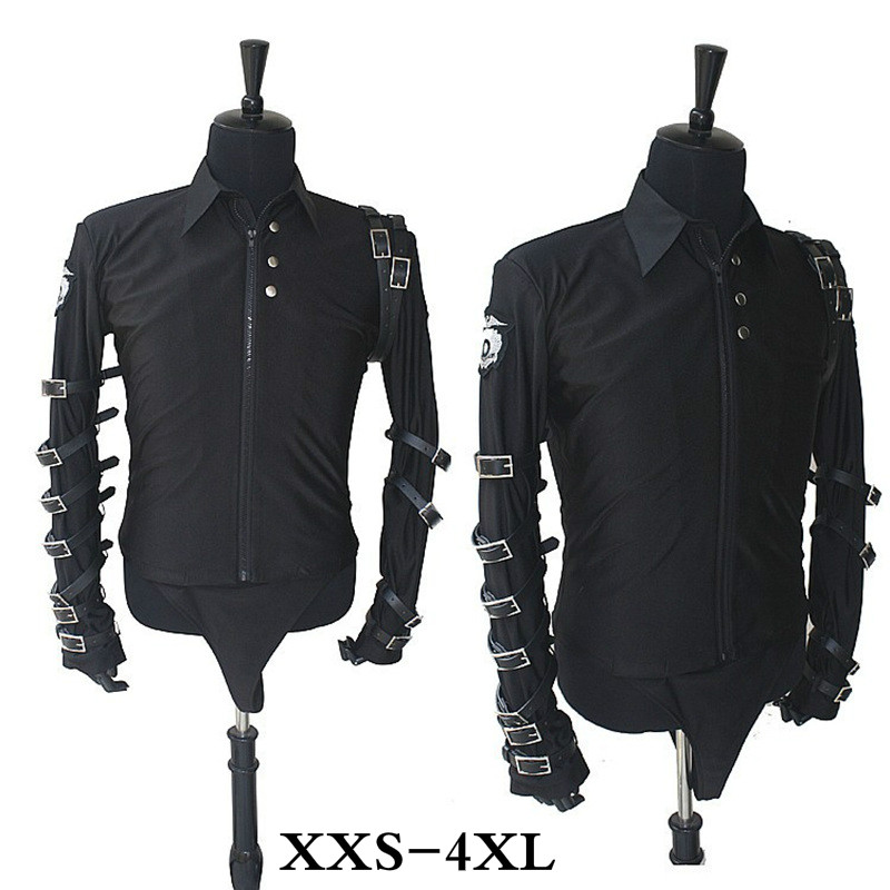SexeMara Michael Jackson Black Punk Rock Jacket For Classic