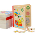 Rompecabezas de madera Para Niños de Dibujos Animados Bebé rompecabezas de Madera Juguetes De Madera Juguetes Educativos Para Niños Familia Juego de Libro de Cuentos 3 Página