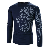 Hot Selling 2016 New Fashion Men S Tops Lion Tattoo Designs Chinese Style Printing Casual Men